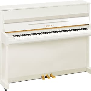 Yamaha B2 Upright Piano, Polished White - Free Delivery - PRICE MATCH GUARANTEE