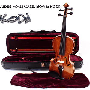 Intermideate Violin Outfit - Violin with foam case bow and rosin