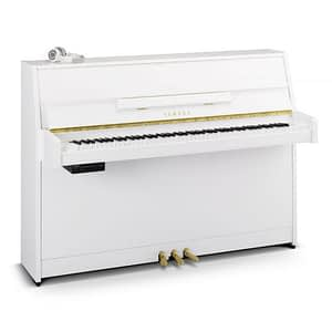 Yamaha B1 SG2 Silent Upright Piano, Polished White - Free Delivery - PRICE MATCH GUARANTEE