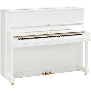 Yamaha YUS1 Upright Piano, Polished White - Free Delivery - PRICE MATCH GUARANTEE