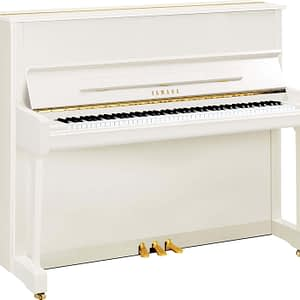 Yamaha P121M Upright Piano, Polished White - Free Delivery - PRICE MATCH GUARANTEE