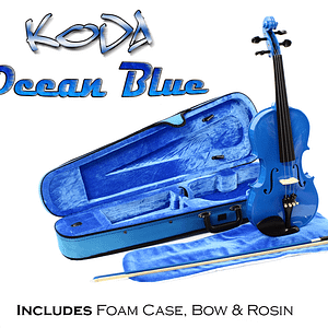 Blue Violin Outfit - Violin with case, bow and Rosin HDV11BL