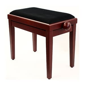 """LEGATO"" Adjustable Piano Stool - Satin Mahogany"