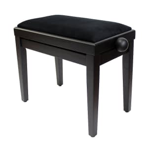 """LEGATO"" Adjustable Piano Stool - Satin Black"