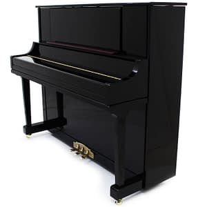 "Steinhoven SU125 Upright Piano, Polished Ebony (125cm, 49"") - FREE DELIVERY"