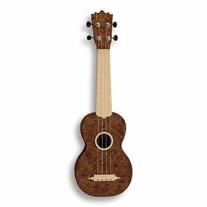 "Koda 21"" Carbon Fiber Soprano BURL WALNUT Ukulele with White Fingerboard  - FREE DELIVERY"