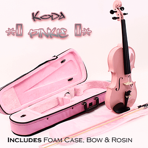 Pink Violin Outfit - Violin with case, bow and Rosin HDV11PI