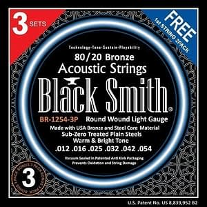 BlackSmith BR12543P, 80/20 Bronze Acoustic Strings, 3 SET PACK - FREE DELIVERY