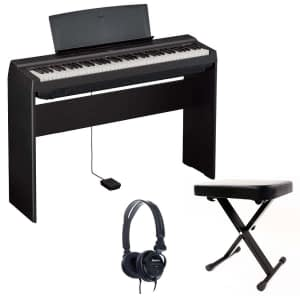 Yamaha P121 Portable Digital Piano Bundle, Black - Free Delivery - PRICE MATCH GUARANTEE