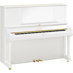 Yamaha YUS5 Upright Piano, Polished White - Free Delivery - PRICE MATCH GUARANTEE