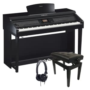 Yamaha Clavinova CVP701 Digital Piano Bundle, Polished Ebony - FREE Delivery - PRICE MATCH GUARANTEE