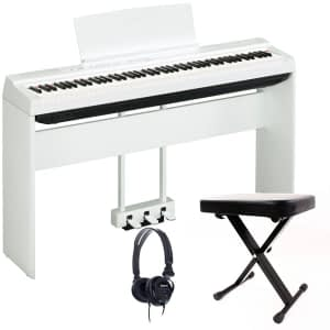 Yamaha P125 Portable Digital Piano Bundle, White - Free Delivery - PRICE MATCH GUARANTEE