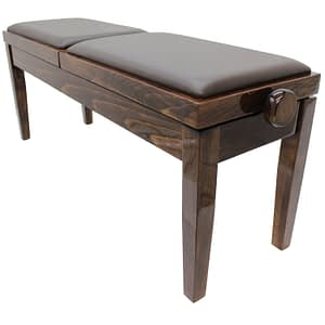 """DUET"" Adjustable Piano Stool - Polished Walnut"
