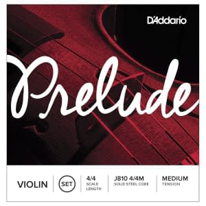 D'Addario Prelude Medium Tension 4/4 Size Violin Strings - FREE DELIVERY