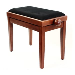 """LEGATO"" Adjustable Piano Stool - Satin Cherry"