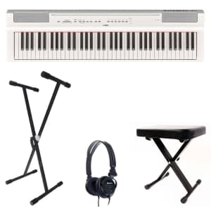 Yamaha P121 Portable Digital Piano Bundle, White - Free Delivery - PRICE MATCH GUARANTEE