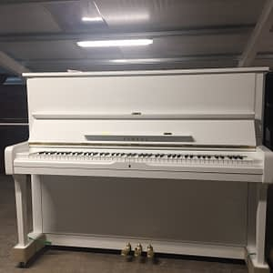 Yamaha U1H - Polished White (SN:1567780 - Year:1973)