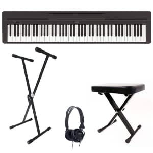 Yamaha P45 Digital Piano Bundle, Black - Free Delivery - PRICE MATCH GUARANTEE