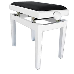 """LEGATO"" Adjustable Piano Stool - Polished White"